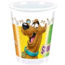 Scooby Doo plastic bekertjes 8 stuks 200 mL