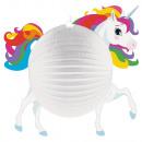 Unicorn Lampion 25 cm