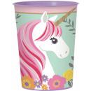 Licorne, verre Unikornis, plastique 473 ml