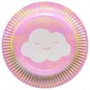 Rainbow & Cloud Paper Plate with 8 pcs 18 cm
