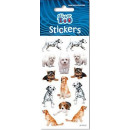 Dog sticker with silver decoration