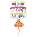 Happy Birthday Fólia lufi 76 cm