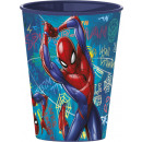 Spiderman glass, plastic 260 ml