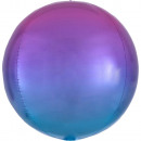 Omelette Red and Blue Sphere Foil Balloons 40 cm