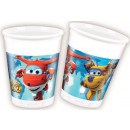 Super Wings Plastic cup 8 pieces 200 ml