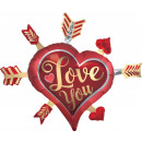 groothandel Stationery & Gifts: I love You, I Love Foil Balloons 86 cm