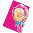 Barbie Magic Party Invitation 6 pcs