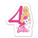 Barbie cake candle, number candle