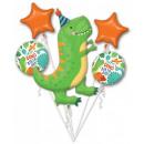 Dinosaur , Dinosaur Foil Balloons Set of 5