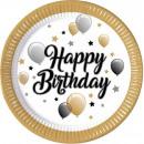 Happy Birthday Paper tray 8 pcs 23 cm