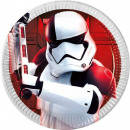 Star Wars Paper Plate 8 x 19.5 cm Metallic