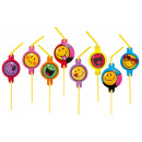 wholesale Licensed Products:Emoji straw, 8 pcs set