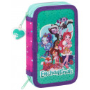 Pencil case filled with 2-storey Enchantimals