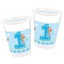 groothandel Stationery & Gifts: Eerste verjaardag  acht-delige plastic beker van 20