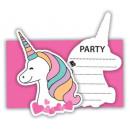 Unicorn, Unikornis Party Meghívó 6 db-os