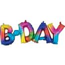 Happy Birthday Rainbow Fólia lufi 66 cm