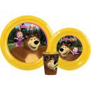 wholesale Licensed Products: Tableware, plastic  set Masha and the Bear