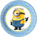 Minions Paper Plate with 8 pcs 19.5 cm