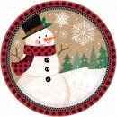 Snowman, Snowman Paper plate 8 pcs 17.7 cm