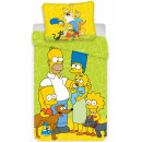 The Simpson family bed linen is 140 × 200 cm, 70 ×
