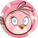 Großhandel Partyartikel: Angry Birds Pappteller 8-teilig 23 cm