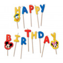 Disney Mickey Happy Birthday kaarsen