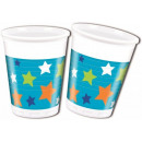 Happy Birthday Boy Plastic cup 8 pcs 200 ml