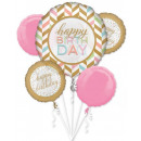 Happy Birthday Foil Balloons Set with 5 Pieces