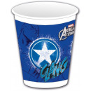 Avengers , wrekers plastic bekertjes 8 stuks 200 m
