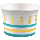 Pineapple, Pineapple paper ice cream cup with 8 pi