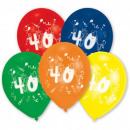 Happy Birthday Ball 40 Balloon 10 Ball (25,4 cm)