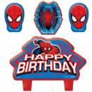 Spiderman, Spiderman Kuchen Kerzen, Kerzen 4 Stück