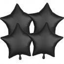 Satyna, satyna czarną folią balony 48 cm 4-częścio