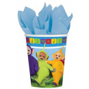Teletubbies paper cup with 8 pcs 266 ml