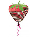 Strawberry, Strawberry Foil Balloons 48 cm