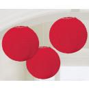 nagyker Lámpások: Lampion Apple Red 20,4 cm 3 db-os szett