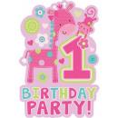 First Birthday Party Invitation 8 pcs