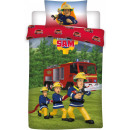 Sam the Firefighter Bedding Cover is 140 × 200cm b