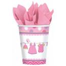 Baby Girl Papír pohár 8 db-os 266 ml