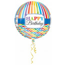 Happy Birthday Sphere Foil balloons 40 cm