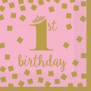 First birthday napkin 16 pcs, 24.7 * 24.7 cm