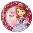 wholesale Party Items: DisneySofia , Sofia Paper plate 8 pcs 19.5 cm
