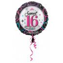 Happy Birthday 16 Foil balloons 43 cm