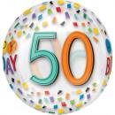 Happy Birthday 50 Sphere Foil Balloons 40 cm