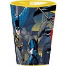 Großhandel Partyartikel: Batman Glas, Kunststoff 260 ml