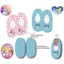 Pantoufles d'hiver pour enfants Disney Princes