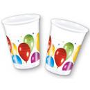 Ballon plastic cups 10 stuks 200 ml