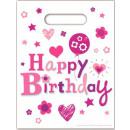 grossiste Emballage cadeau: Happy Birthday  Fille cadeau Sac 6 pièces