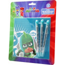 Stationery Set (4 pcs) PJ Masks, Pissihősök