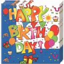 Happy Birthday Servilletas 20 pcs